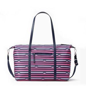 ♠️Kate Spade Jae Nylon Luggage Weekender Lip Print